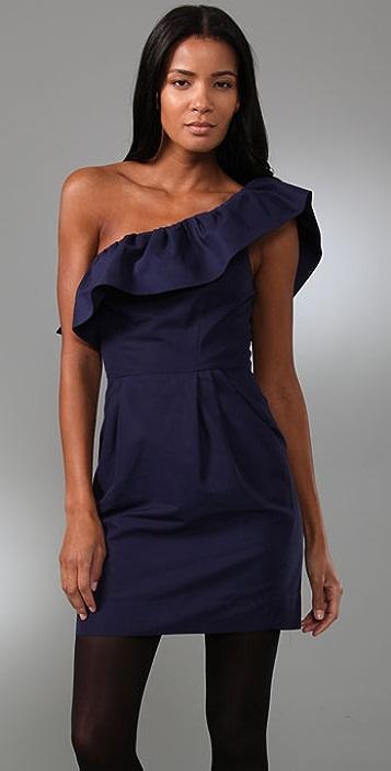 Rebecca Taylor Asymmetrical Party Dress