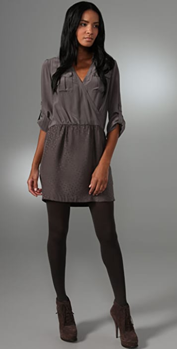 Rebecca Taylor Femme Military Shirtdress