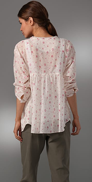 Rebecca Taylor Rose Daydream Blouse