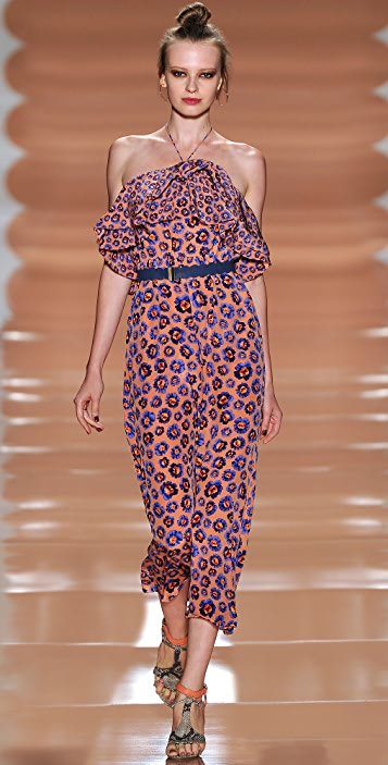 Rebecca Taylor Pom Pom Halter Dress