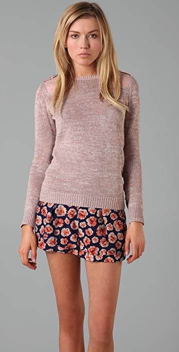 Rebecca Taylor Surplus Crew Neck Sweater