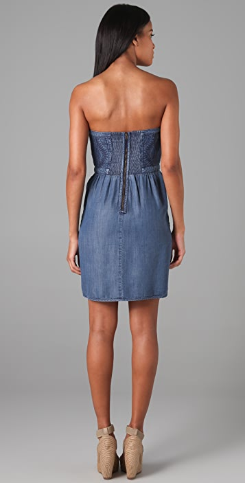 Rebecca Taylor Quilted Denim Dress