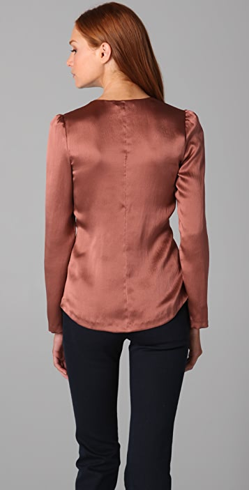 Rebecca Taylor Puff Sleeve Blouse