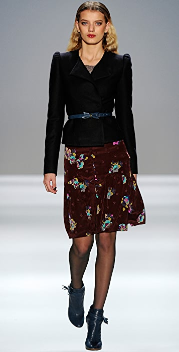 Rebecca Taylor Floral Print Skirt