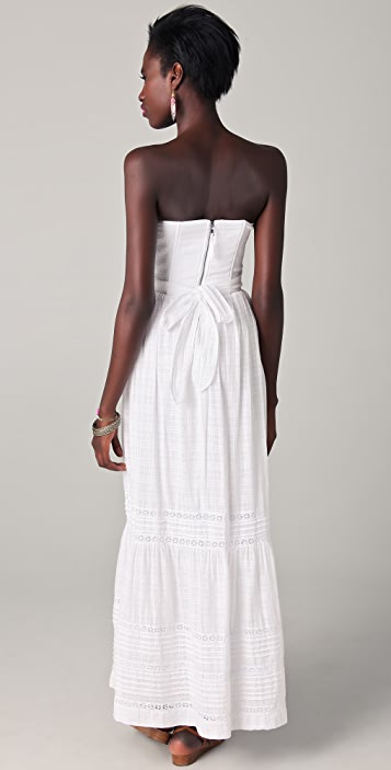 Rebecca Taylor Beaded Strapless Gown