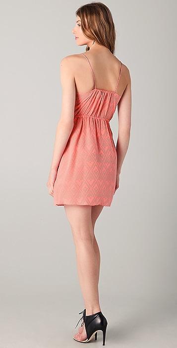 Rebecca Taylor Faux Wrap Tank Dress