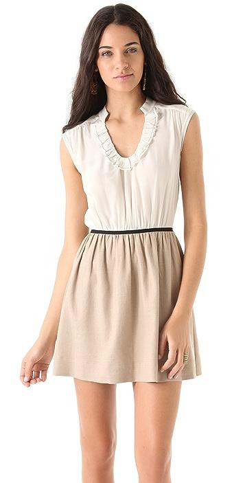Rebecca Taylor Sleeveless Tweed Dress