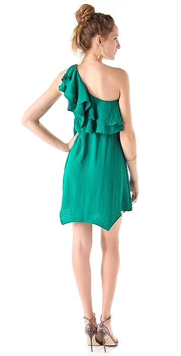 Rebecca Taylor Ruffle One Shoulder Dress