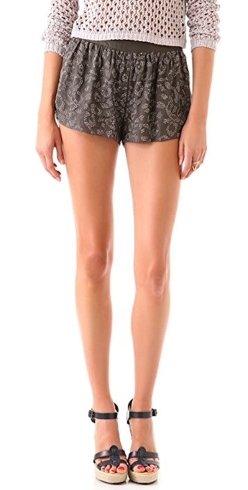 Rebecca Taylor Studded Leopard Shorts