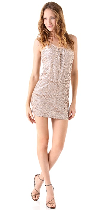Rebecca Taylor Sequined Cami Dress