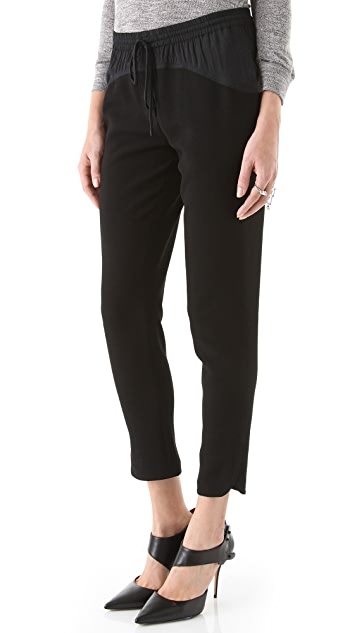 Rebecca Taylor Blocked Knit Pants