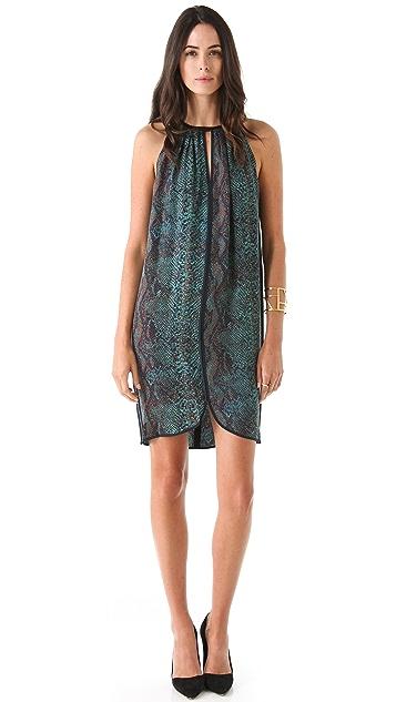 Rebecca Taylor Python Halter Dress