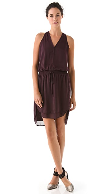Rebecca Taylor Rumpled Satin Dress