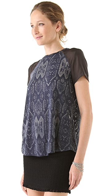 Rebecca Taylor Open Back Python Tee