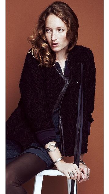 Rebecca Taylor Fringe Short Coat
