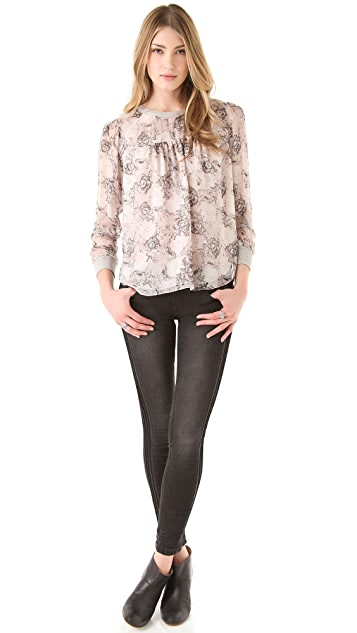 Rebecca Taylor Camille Floral Blouse