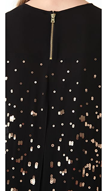 Rebecca Taylor Abstract Sequin Dress