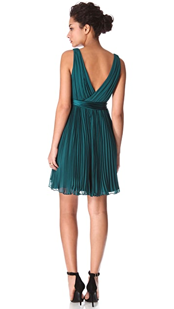 Rebecca Taylor Pleated Dress with Sash