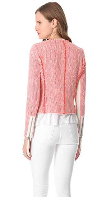 Rebecca Taylor Neon Tweed Jacket
