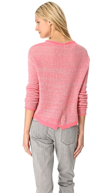 Rebecca Taylor Marled Cashmere Sweater