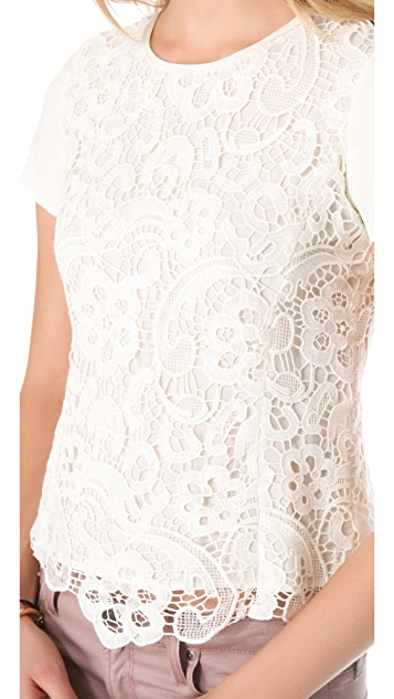 Rebecca Taylor Lace Tee