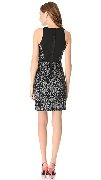Rebecca Taylor Leopard Knit Shift Dress