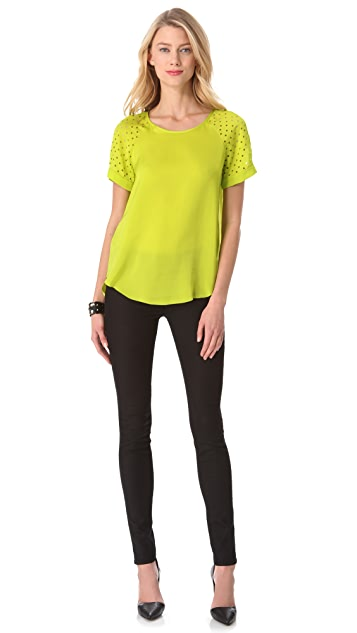 Rebecca Taylor Laser Cut Tee