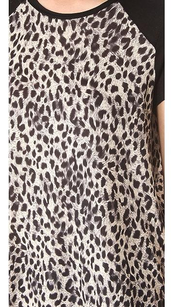 Rebecca Taylor Leopard Print Tee