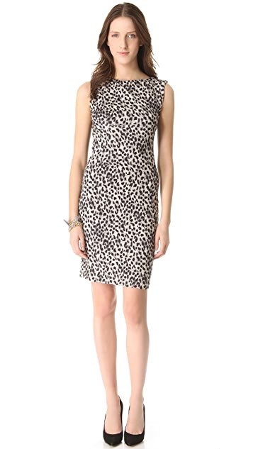 Rebecca Taylor Leopard Print Sheath Dress