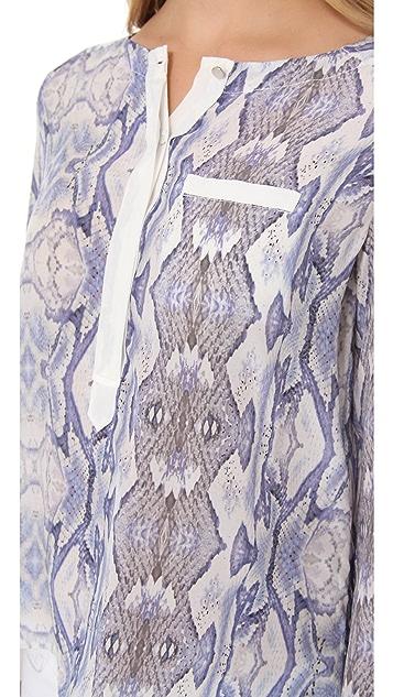 Rebecca Taylor Snake Print Blouse