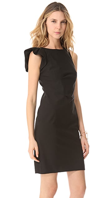Rebecca Taylor Dress with Fluted Shoulder