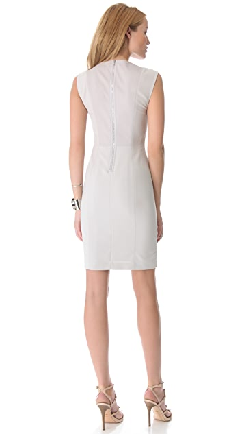 Rebecca Taylor Pieced Leather Shift Dress