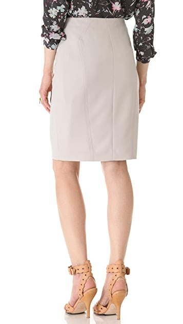 Rebecca Taylor Leather Pencil Skirt