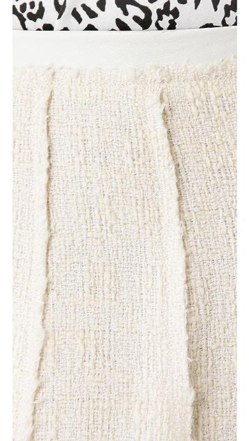 Rebecca Taylor Tweed Flare Skirt