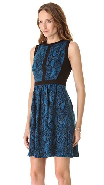 Rebecca Taylor Python Fit & Flare Dress