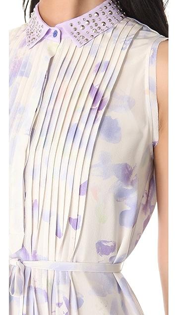 Rebecca Taylor Hawaii Dress with Beaded Collar