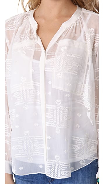 Rebecca Taylor Embroidered Shirt