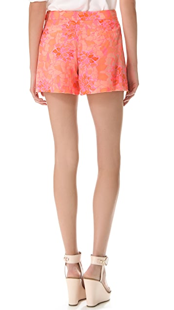 Rebecca Taylor Hibiscus Pleat Shorts