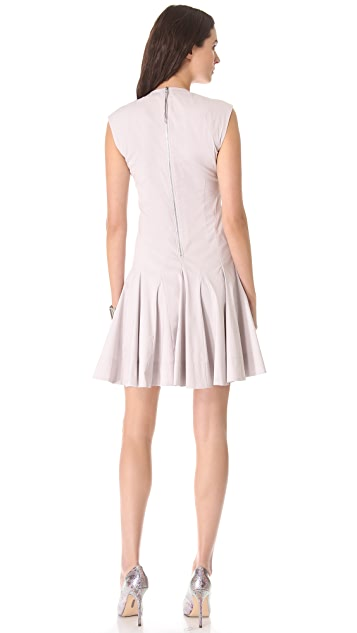 Rebecca Taylor V Neck Godet Dress