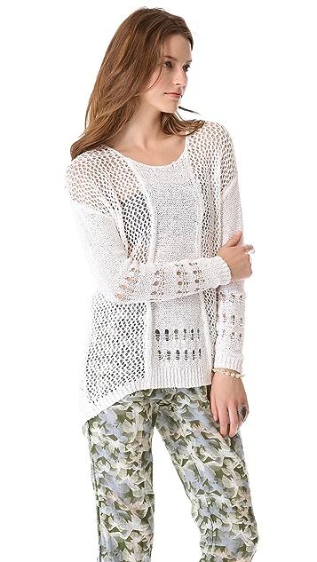 Rebecca Taylor Textured Crew Sweater