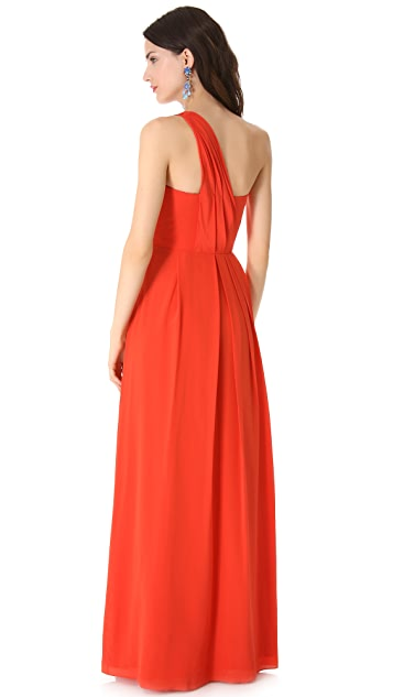 Rebecca Taylor One Shoulder Maxi Dress