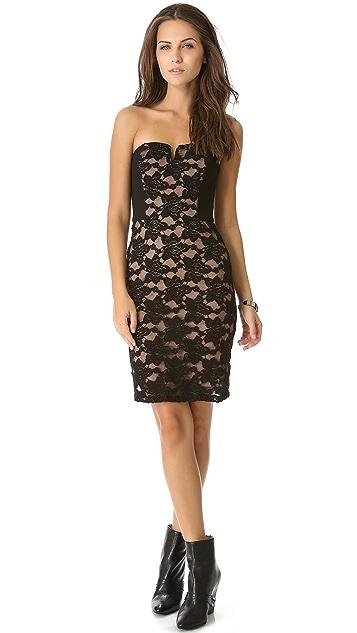 Rebecca Taylor Lace Strapless Dress