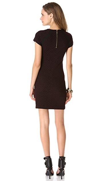 Rebecca Taylor Croc Short Sleeve Dress