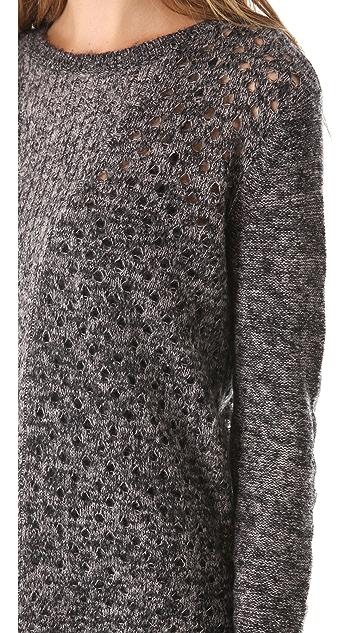 Rebecca Taylor Open Stitch Pullover