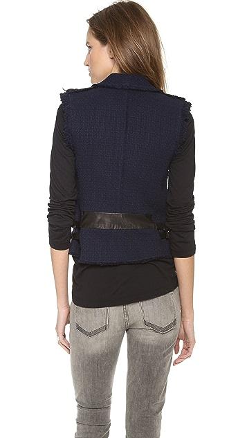 Rebecca Taylor Tweed Moto Vest