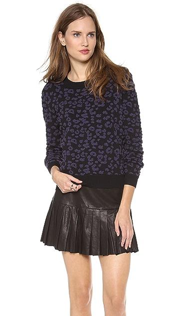 Rebecca Taylor Leopard Pullover