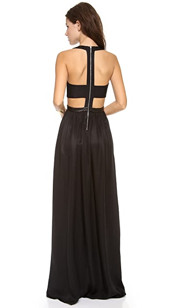 Rebecca Taylor Sleeveless Cutout Maxi Dress