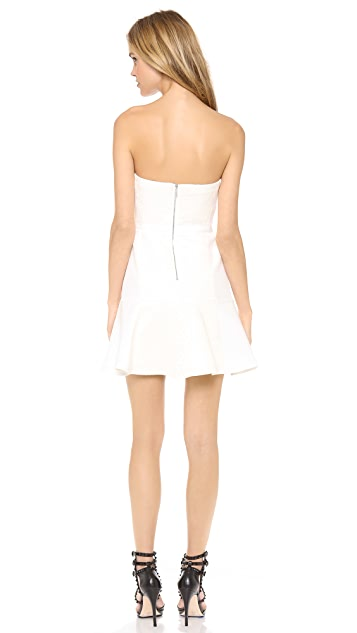 Rebecca Taylor Strapless Cloque Beaded Dress