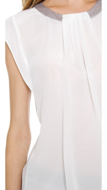 Rebecca Taylor Pleated Front Blouse