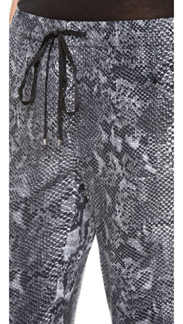 Rebecca Taylor Python Drawstring Pants
